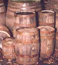 wood barrels of all shapes and sizes